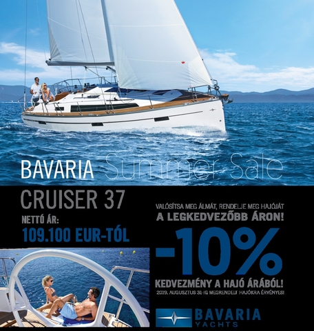 BAVARIA SUMMER SALE 2019 - BAVARIA CRUISER 37